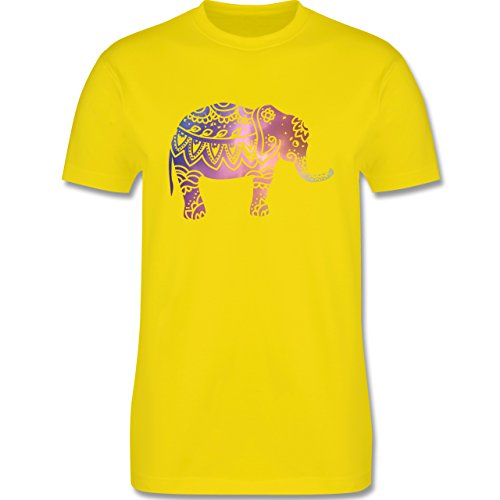 Wellness, Yoga & Co. - Elefant Namaste - Herren Premium T-Shirt Lemon Gelb