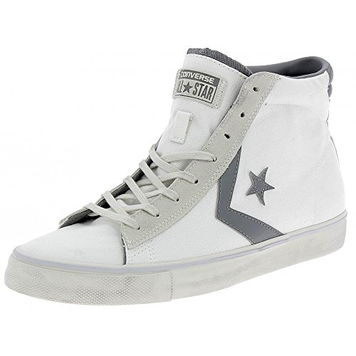 Converse - Converse Pro Leather Vulc Distressed Scarpe Uomo Bianche - Weiss, 44 (Distressed Leder Turnschuhe)