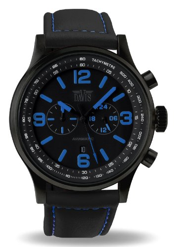 Davis Unisex Analogue Watch with blue Dial Analogue Display - 1843