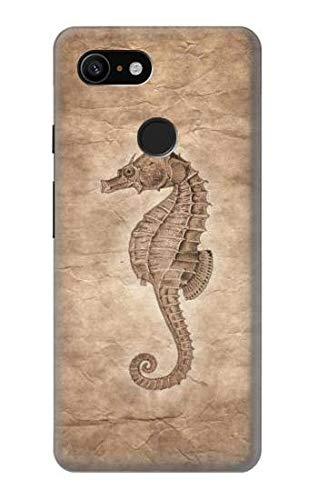 Innovedesire Seahorse Skeleton Fossil Hülle Schutzhülle Taschen für Google Pixel 3