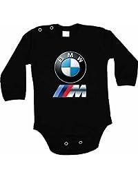 Body para bebés (diseño con logotipo de BMW y texto, manga larga), color negro
