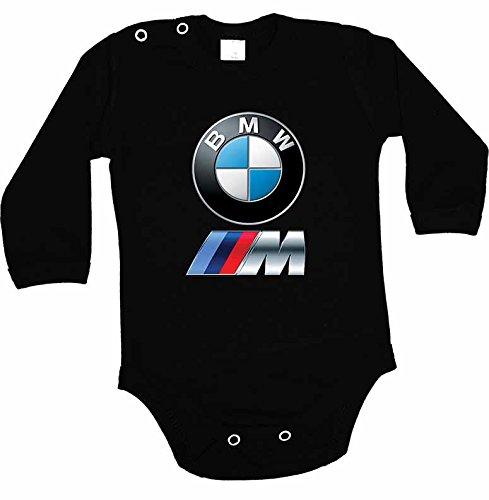 Body para bebés (diseño con logotipo de BMW y texto, manga larga), c