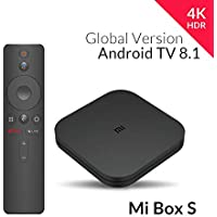 Xiaomi Mi Box S (Version UE) Lecteur multimédia 4K Ultra HD avec télécommande Google Assistant, Bluetooth, HDR 4K, Audio Dolby, DTS HD, Android 8.1 Noir