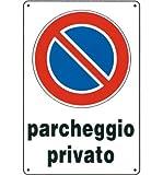 Cartello 'Parcheggio Privato' In Polionda.