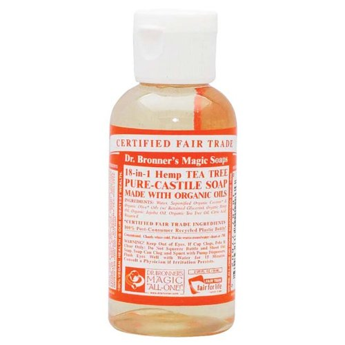 Organic Castile Liquid Soap Tree Tea Dr. Bronners 2 Oz Liquid  available at amazon for Rs.1175
