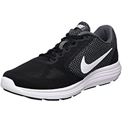 Nike Wmns Revolution 3, Zapatillas de Running para Mujer, Negro (Dark Grey/White/Black), 38.5 EU