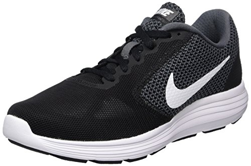 Nike Damen Revolution 3 Laufschuhe, Grau (Dark Grey/White-Black), 40 EU
