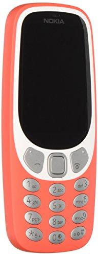 Nokia A00028836 3310' 3G Telefono Cellulare 64MB, Kamera 2MP Flash LED Warm rot