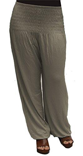 Jygles Damen Pumphose/Haremshose / Yoga Pant Stretch Pump Sport Aladin Hose (Grau)
