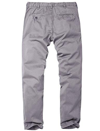 Match Herren Slim Straight Casual Hose #8036 8036 Violett grau