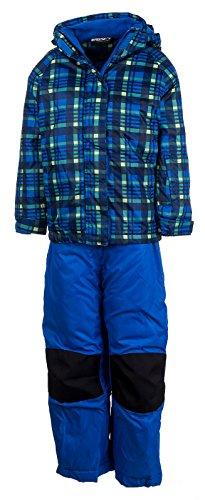 Skianzug Kinder Schneeanzug Skijacke Skihose Jungen Mädchen Winteroverall | Y-42501Cc Blau 128 - 3