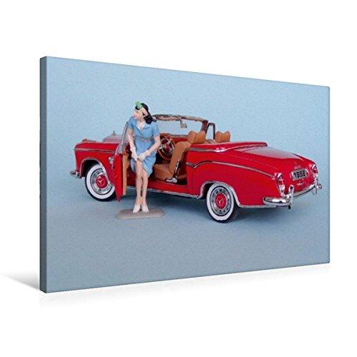 Premium Textil-Leinwand 75 cm x 50 cm quer, Mercedes 220 SE ('58) | Wandbild, Bild auf Keilrahmen, Fertigbild auf echter Leinwand, Leinwanddruck (CALVENDO Hobbys) (Sammler Leinwand Kunst)