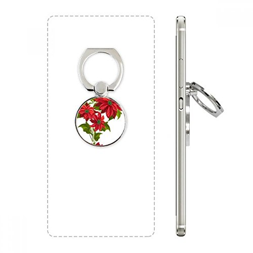 DIYthinker Weihnachten Blume Poinsettia Bouquet Red Handy-Ring Ständer Halter Halterung Universal-Smartphones Unterstützung Geschenk Mehrfarbig China Bouquet