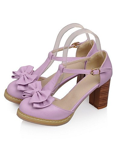 WSS 2016 Chaussures Femme-Mariage / Habillé / Décontracté / Soirée & Evénement-Bleu / Rose / Violet / Blanc-Gros Talon-Talons-Talons-Similicuir purple-us9.5-10 / eu41 / uk7.5-8 / cn42