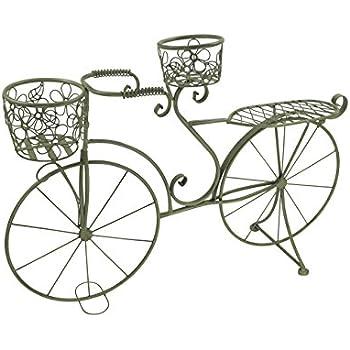 wenko 5857060500 pflanzen fahrrad nostalgie mit 3 metall k rben metall stahl 62 x 42 x 21 cm. Black Bedroom Furniture Sets. Home Design Ideas