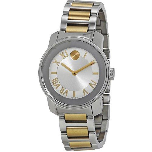 Movado mujer 32 mm multi colour pulsera de acero inoxidable & caja reloj 3600245