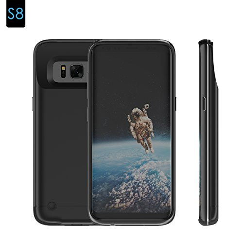 Runbiu Cover Batteria per Samsung Galaxy S8 Battery,Custodia Ricaricabile Cover Caricabatterie Portatile Batteria Esterna Battery Case per Samsung Galaxy S8 Battery -Power Bank Backup
