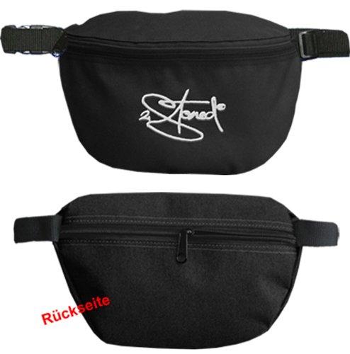 Original 2stoned Hüfttasche mit Stick Classic Logo in mehreren Farben schwarz