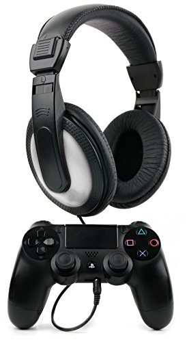 Duragadget cuffie stereo per playstation 4/3 | xbox one - design nero