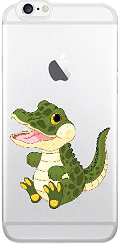 Blitz® Animaux Fables motifs housse de protection transparent TPE caricature bande iPhone Chien de dessin animé M14 iPhone X Bébé crocodile M6
