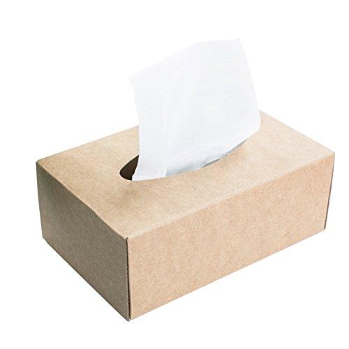 fankeshi Dokument Karton Aufbewahrungsboxen Datei Papier Brief Archiv Desktop Tidy Box 2018 Tissue Cube Box - Kraftpapier Braun Tissue-papier