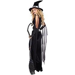 Halloween/traje/para las mujeres/plus size/falda sexy/fiesta/disfraz de bruja/ el vampiro-negro XL