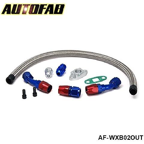 sypure (TM) autofab–Universale T3/T4t04e t04b T70T66T67GT45GT30Turbo Olio ritorno Kit Linea di drenaggio af-wxb02out - Fuel Tubo Di Alimentazione