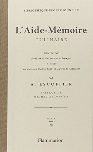 L'Aide-Memoire culinaire (French...