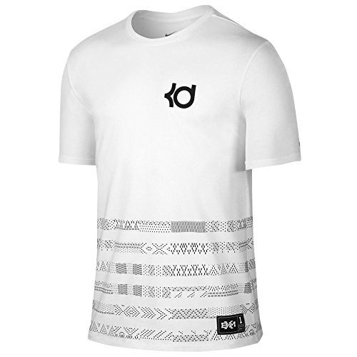 Nike Herren KD BHM Schwarz History Month Shirt Wei? / Schwarz Durant (X-Large)