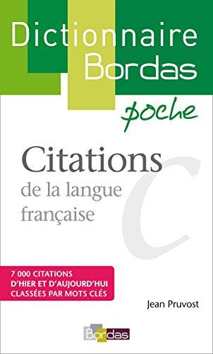 Dictionnaire poche des citations par Jean Pruvost