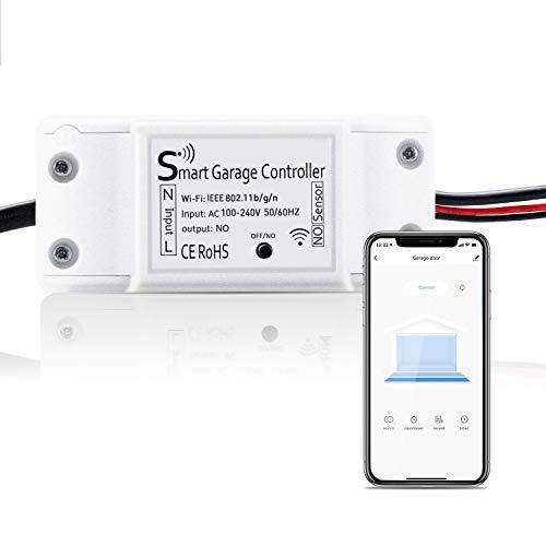 Smart Garagentoröffner, Maxcio Wlan Garage Door Schalter, Kompatibel mit APP Steuerung, Timer und Countdown, Betriebsaufzeichnung