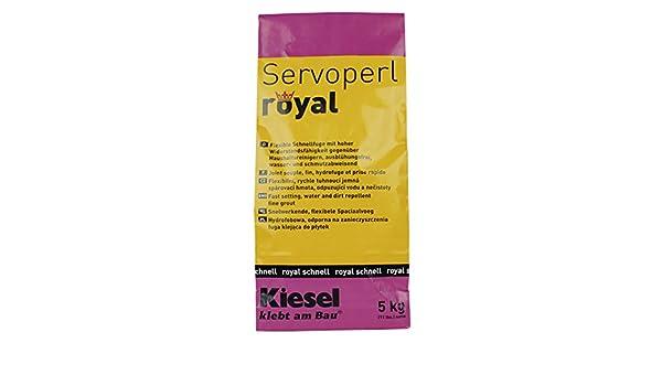 Servoperl royal jasmin Wasserabweisende Flexfuge Fugenmasse Fugenm/örtel f/ür Fugen von 1 bis 10 mm 1 Papierbeutel 5 kg jasmin