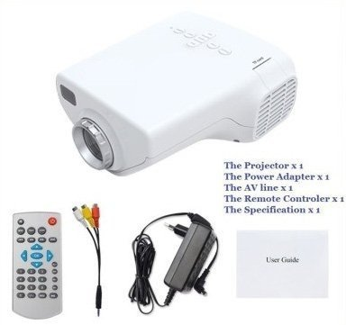 Isabella LED Projector Multimedia Support Play Format (Color and Design May Vary)