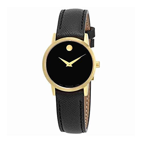 Movado Damen-Armbanduhr 28mm Armband Leder Schwarz Quarz Analog 0607205 - Movado Uhren Damen