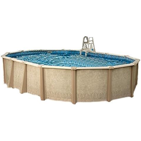 Interline 55000120ovalado Pool sunlake 3,60x 6,10m, profundidad 1,32m, set completo 6m³, wasserinh, aprox. 21m³