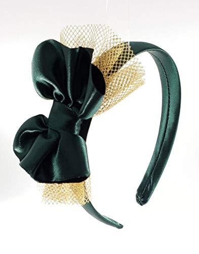 Cerchietto per capelli bambina fatto a mano in raso con fiocco ... 1a974b379c43
