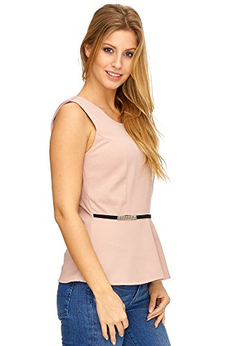 JillyMode Elegant Top mit Strass one Size 34-38 A1061 A1061-Rosa