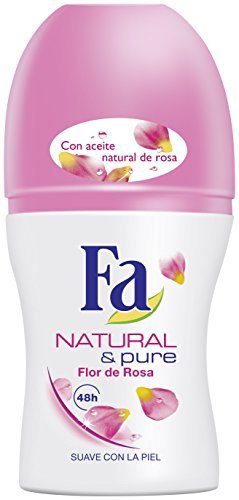 Fa Deodorante, Natural&Pure Deo Roll-On, 50 ml