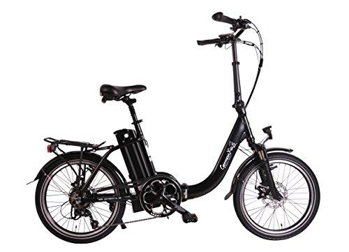 GermanXia Premium Elektro-Faltrad Mobilemaster Touring Plus CH 9G Shimano, 250W HR-Antrieb/15,6 Ah, bis 140 km Reichweite nach StVZO, Comfort-Lenker, Farbe Silber