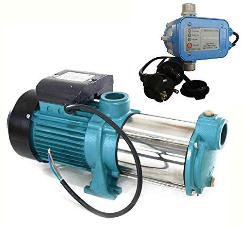 umpe MHI2200 INOX + Steuerung PS-01 mit Trockenlaufschutz - Leistung: 2200W - Spannung: 230 V / 50 Hz 9600 L/h - 160l/min. Max. Druck 5,8 bar. Laufräder aus EDELSTAHL. ()