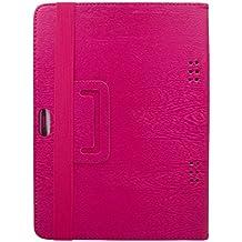 transwon funda carcasa para Yuntab K17Tablet, Teclast x10, ibowin M13010,1pulgadas, artizlee atl-31Tablet táctil, 2017nueva 10.1Inch 4G LTE tablets, lnmbbs 3G Libre Tablet rosa magenta