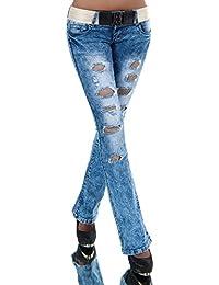 36b50b2b86de N387 Damen Jeans Hose Hüfthose Damenjeans Hüftjeans Bootcut Schlag  Schlaghose