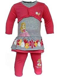 4d204edb2d3 anja-wendt Baby Mädchen Set Disney Princess Shirt Leggins Hose pink rosa  Bolero