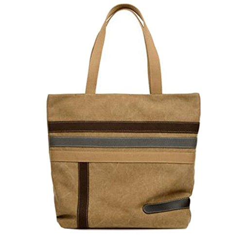 Durable sac à bandoulière à la mode Canvas sac à main sac à main, Kaki