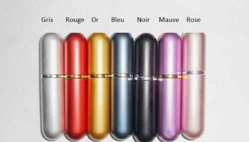 Flacon Vaporisateur 5ml Vide Sac Atomiseur de Poche 7 couleurs Verre Spray ROND - Gris