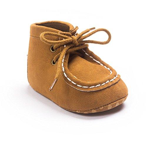 ESTAMICO , {Chaussures premiers pas pour bébé (garçon) Noir noir 12-18 mois Marron
