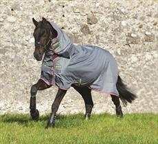Horseware Amigo Hero 6Turnout All in One 200g, Grey/Purple & Yellow
