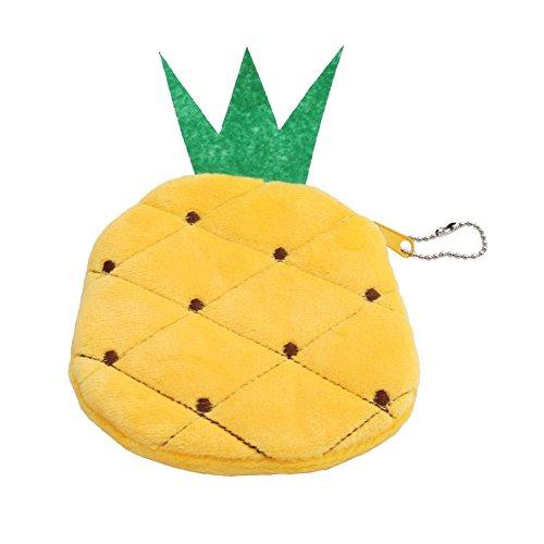 Gluckliy Sommer Frauen lange Kupplungs Reißverschluss Frucht Geldbeutel Mappen Münzen Karten Halter kleine Beutel, Ananas (Karten-halter-münzen-geldbeutel-beutel)