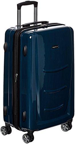 AmazonBasics - Maleta rígida - 55 cm Tamaño de cabina, Azul Marino