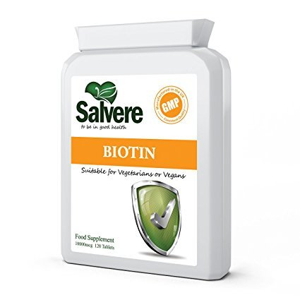 High Strength Biotin 10,000mcg for Healthy Hair, Nails & Skin Care, Synthesise & Metabolise Glucose, Fatty Acids, Amino Acids & Stress Hormones, Build & Repair Muscles & Tissues